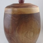 Turning a walnut cannister
