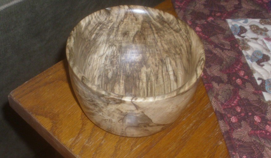 Spalted Hackberry Bowl