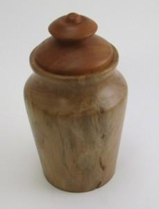 Dogwood vase with worm trails